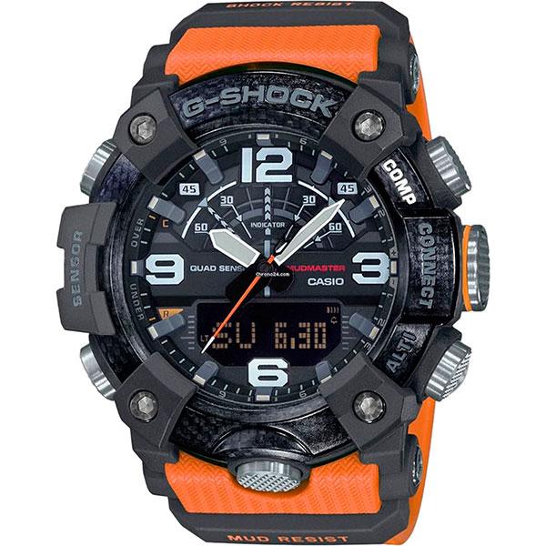Кварцевые часы Casio G-Shock Premium Gg-b100-1a9er Black/Orange