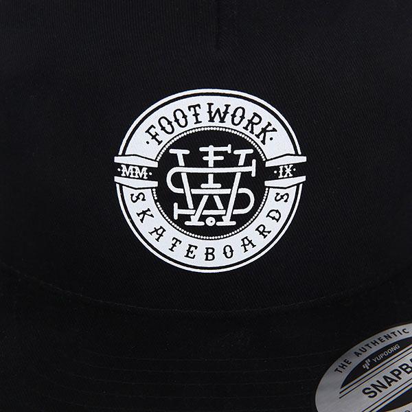 Бейсболка с прямым козырьком Footwork Heritage Black