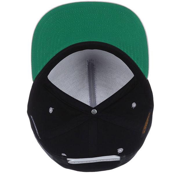 Бейсболка с прямым козырьком Footwork Heritage Black/Silver