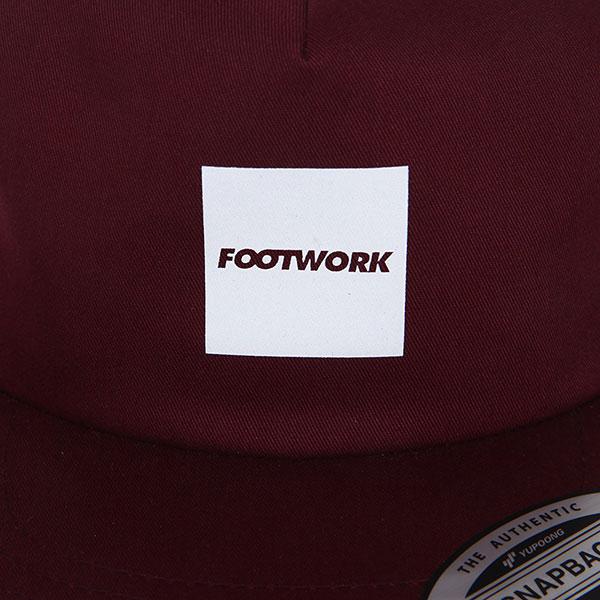 Бейсболка с прямым козырьком Footwork Quadro Maroon
