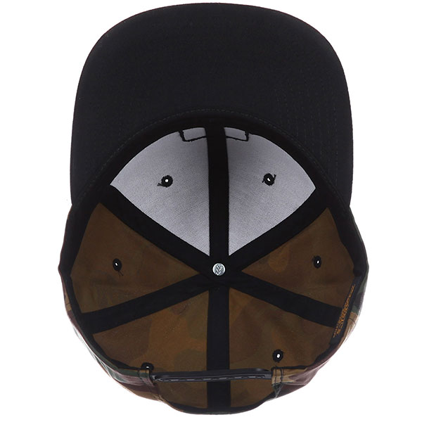 Бейсболка с прямым козырьком Footwork East Square Black/Camo