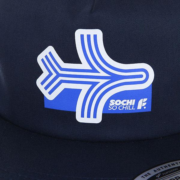 Бейсболка с прямым козырьком Footwork Sochi Navy
