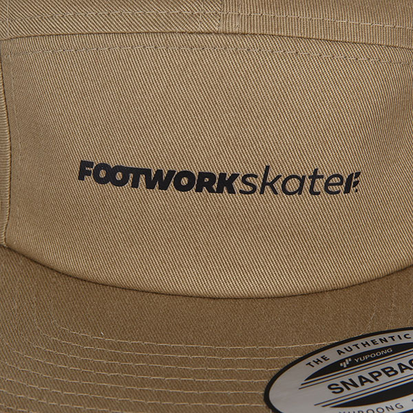 Бейсболка пятипанелька Footwork Trademark Khaki