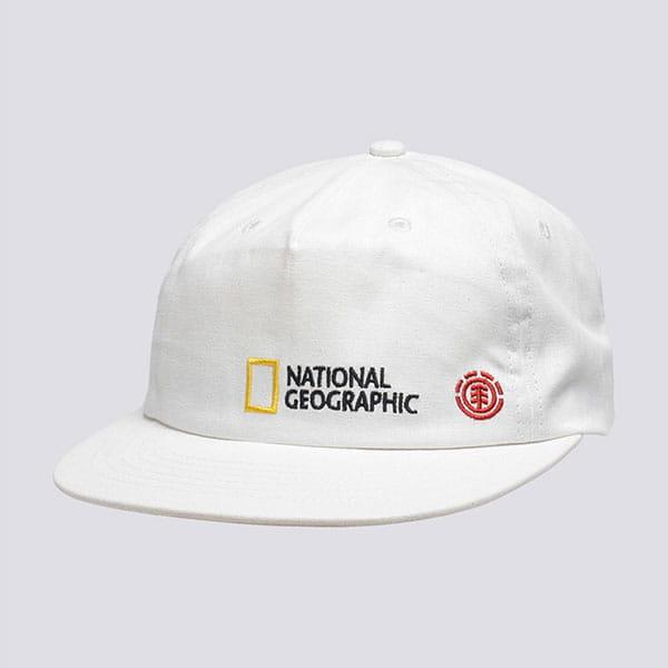 Бейсболка с прямым козырьком Element Unity Hat Off White