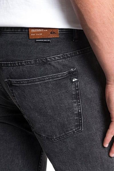 Узкие джинсы QUIKSILVER Distorsion Snow Black