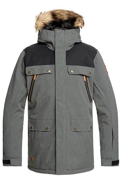 Куртка сноубордическая утепленная QUIKSILVER Selector Jk Black Heather