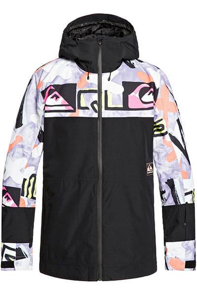 Куртка сноубордическая утепленная QUIKSILVER Syca Anniv Black Warpaint
