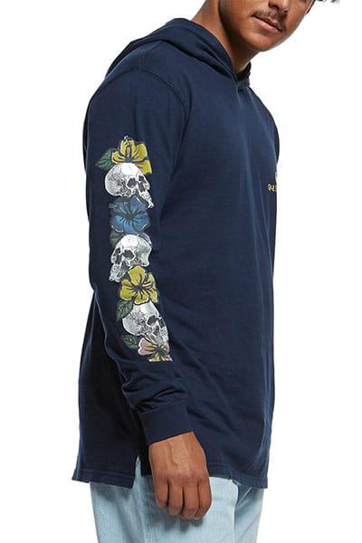Лонгслив QUIKSILVER с капюшоном Originals Skull Chain