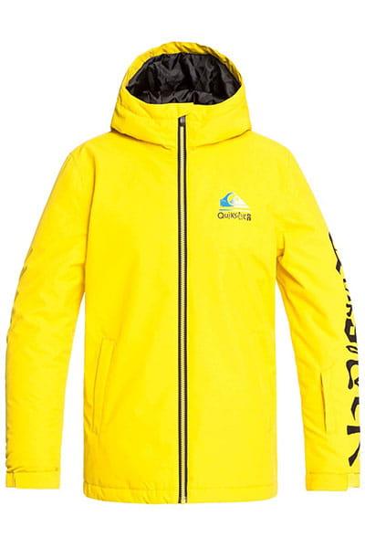 Куртка сноубордическая утепленная QUIKSILVER Inthehood Sulphur