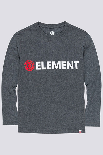 Лонгслив детский Element Blazin Ls Boy Charcoal Heathe