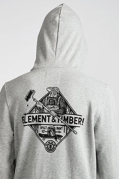 Толстовка кенгуру Element Rolling Ho Grey Heather