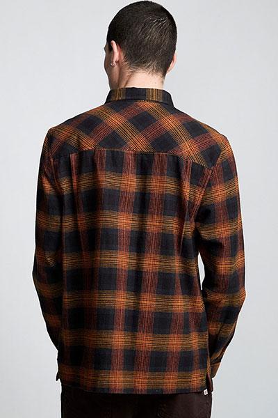 Рубашка в клетку Element Wentworth Shadow Gold Brown
