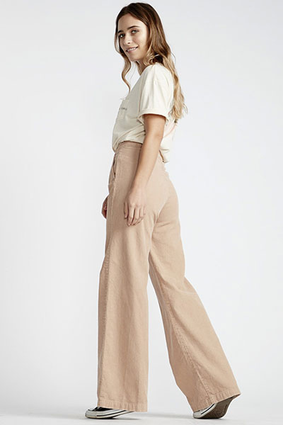 Штаны широкие женские Billabong Fluffy Pant Warm Sand