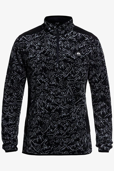 Толстовка классическая QUIKSILVER Aker Hz Fleece Black Powdertrack