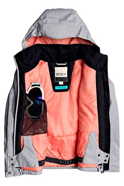 Куртка утепленная детская Roxy Jetty Sol Heather Grey