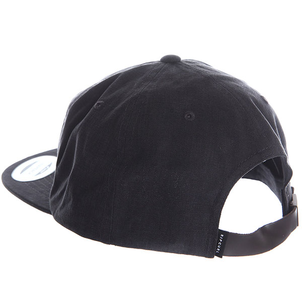 Бейсболка с прямым козырьком Rip Curl Supply Co Sb Cap Washed Black