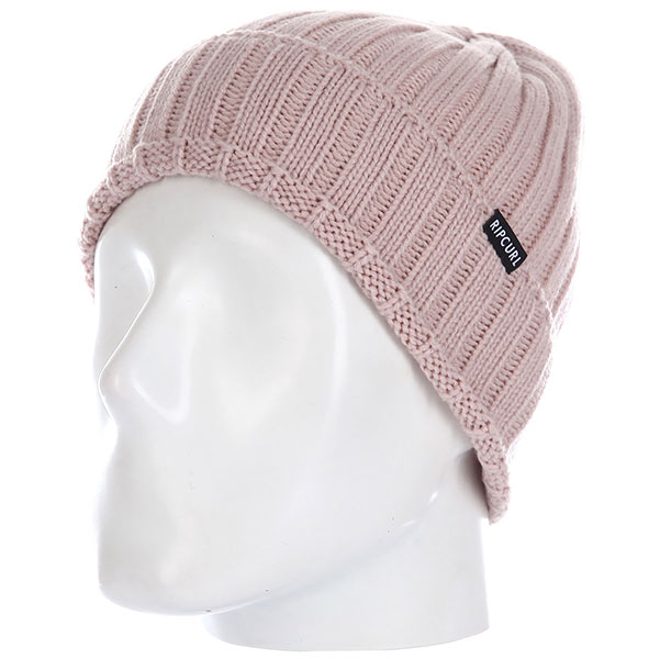 Шапка женская Rip Curl Ridged Beanie Dusty Pink
