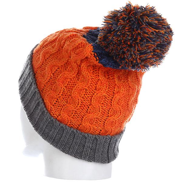 Шапка Rip Curl Wool Pompom Beanie Persimmon Orange