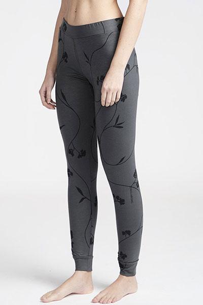 Термобелье (низ) женское Billabong Warm Up Leggings Black Flower