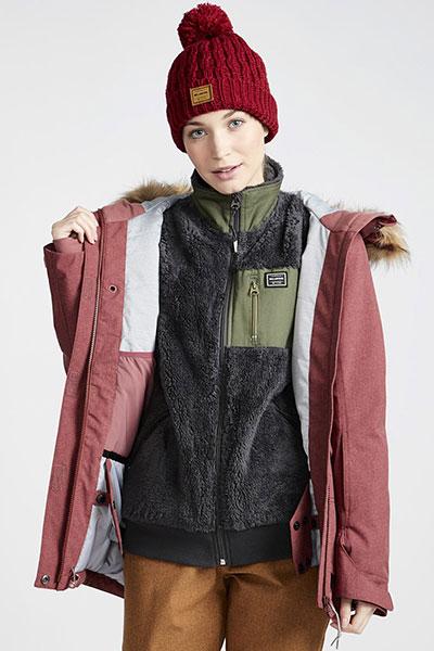 Куртка утепленная женская Billabong Into The Forest Vintage Plum