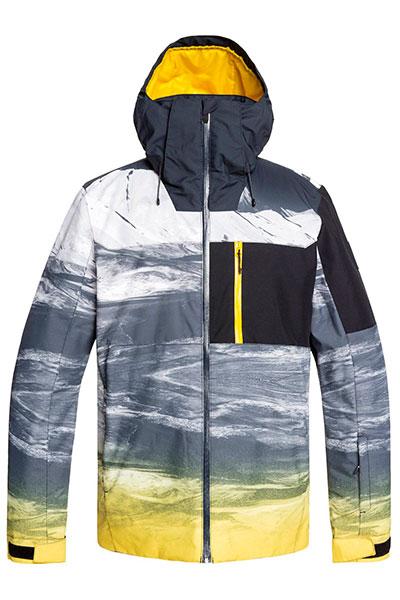Куртка сноубордическая утепленная QUIKSILVER Mission Plus Jk Sulphur Mapple Aroun