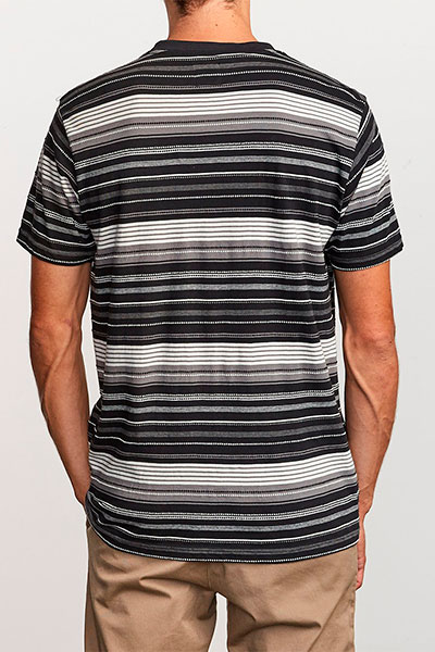 Футболка RVCA Deadbeat Stripe Black