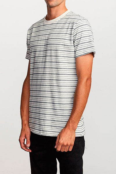 Футболка RVCA Amenity Stripe Silver Bleach