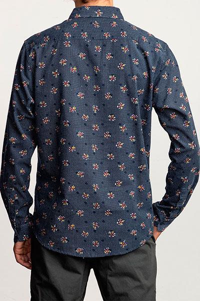 Рубашка RVCA Post Wave Cord Moody Blue