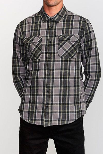 Рубашка в клетку RVCA Thatll Work Flannel Smoke