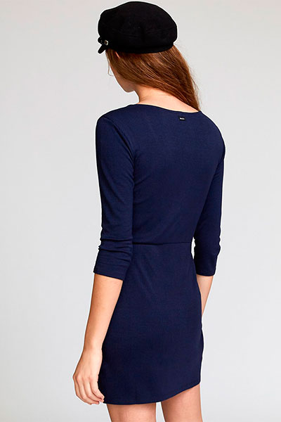 Платье RVCA Twister Rib Dress Navy
