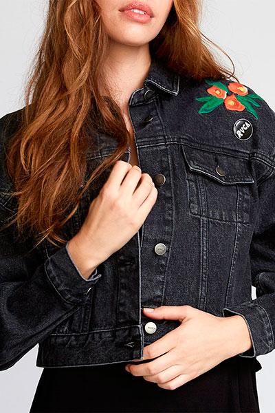 Куртка джинсовая женская RVCA Empire Jacket Faded Black