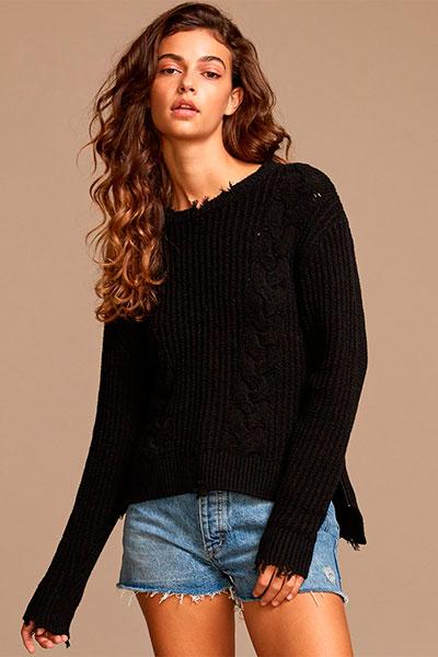 Свитер женский RVCA Drop Out Sweater Black