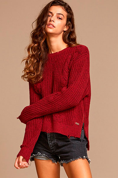 Свитер RVCA Drop Out Sweater Brick Red