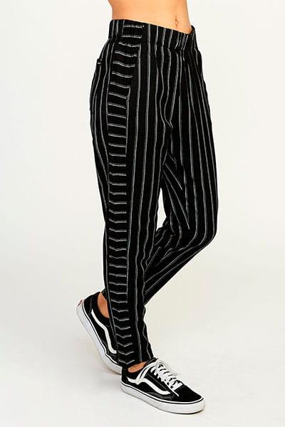 Штаны прямые женские Rvca Chill Vibes Black Stripe