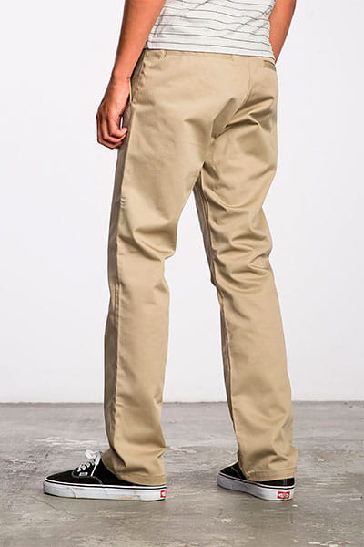 Штаны прямые Rvca Weekend Stretch Pant Khaki