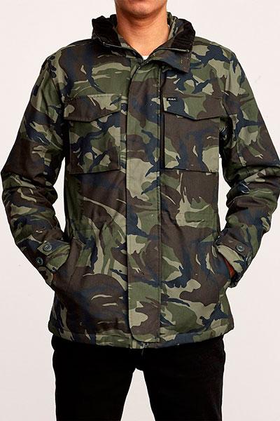 Куртка Rvca Field Coat Woodland Camo