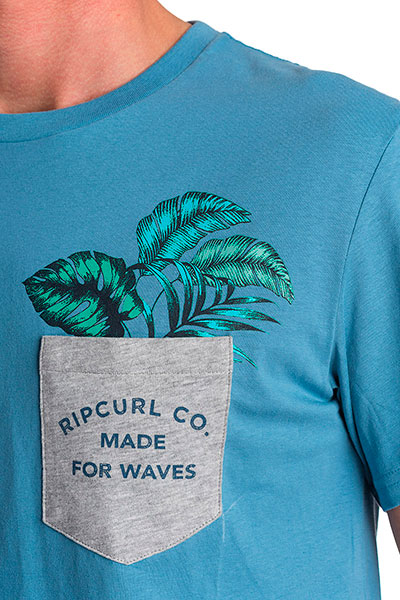 Футболка Rip Curl Greenthumb S/S Tee Denim Blue