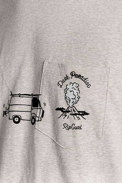 Футболка Rip Curl Pictograms S/S Tee Cement Marle