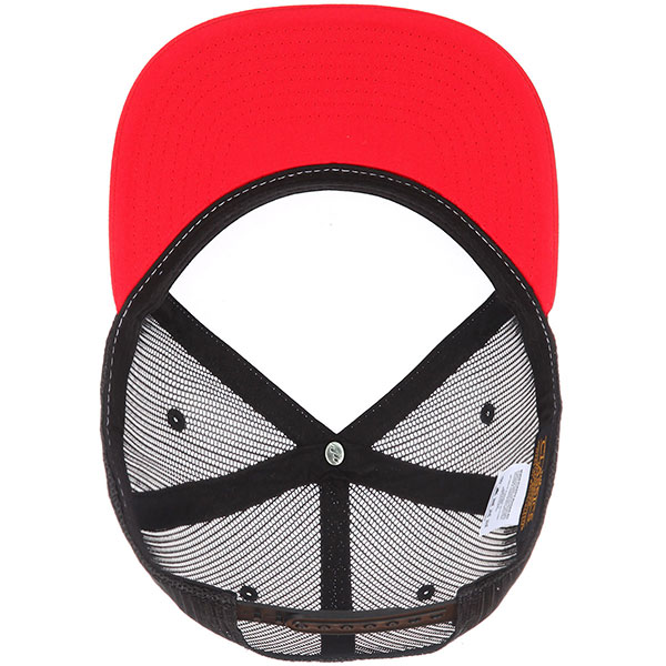 Бейсболка с сеткой Flexfit Yupoong 6005fw No Foam Red/White/Black