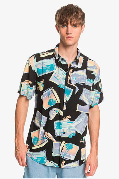 Рубашка QUIKSILVER B11vacancyshirt Black Vacancy