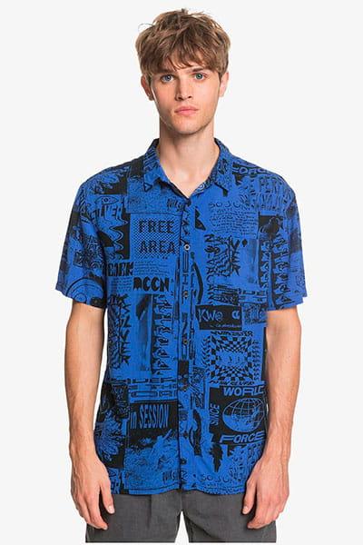 Рубашка QUIKSILVER Fluidgeoss Dazzling Blue Vortex