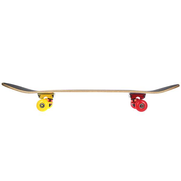 Скейтборд в сборе Turbo-FB Multi Red Yellow