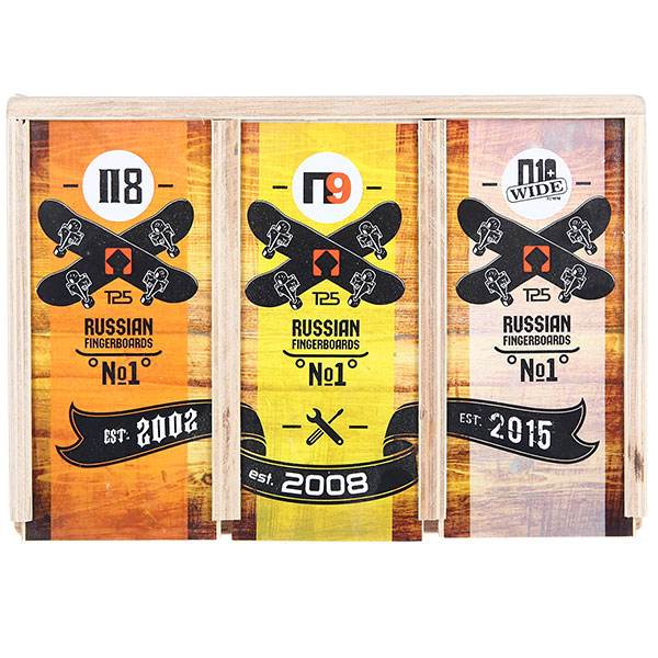 "Комплект фингербордов ""Turbo History"" -3 фингерборда в тройном боксе. Серии П1, П9, П10 Wide. Turbo-FB. 3"