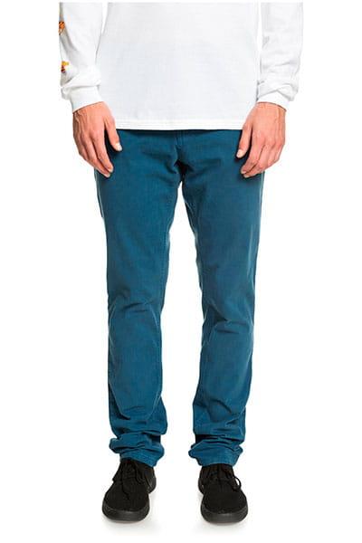 Штаны прямые QUIKSILVER Krandyslim Majolica Blue