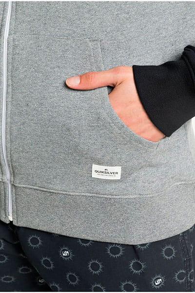 Мужская толстовка классическая QUIKSILVER Essscreenzipter Grey Heather