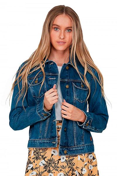 Куртка джинсовая женская Roxy Tigers Eyes J Jckt Bmtw Bmtw