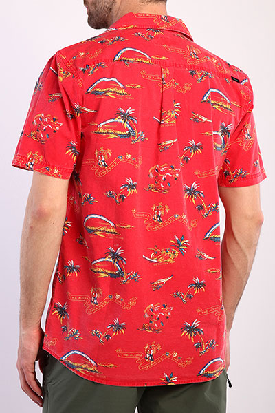 Рубашка Rip Curl Velzy S S Shirt 4851 Bright Red Xl
