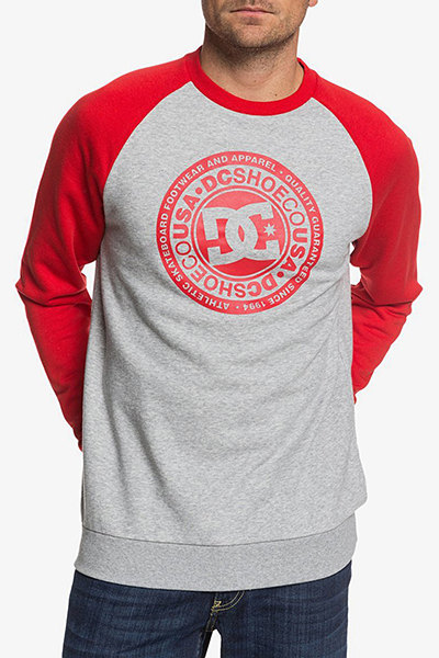 Лонгслив DC Shoes Circle Star Cre Grey Heather/Racing