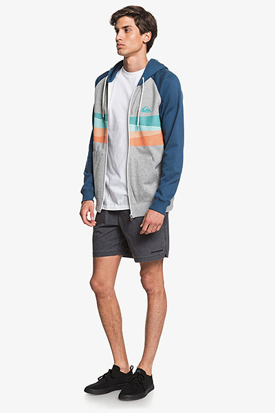 Куртка QUIKSILVER С Капюшоном На Молнии Everydayscreenz Grey Heather