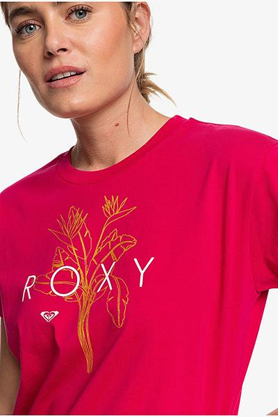 Футболка женская Roxy Epic Af Logo J Tees Mqt0 Cerise